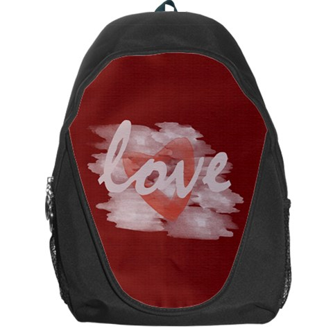 Cute Bright Red Watercolor Love Heart By Lucy   Backpack Bag   1j6zob49zzss   Www Artscow Com Front