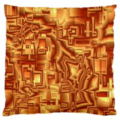 Reflective Illusion 02 Large Flano Cushion Cases (One Side)  by MoreColorsinLife
