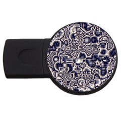 Reflective Illusion 04 Usb Flash Drive Round (2 Gb)  by MoreColorsinLife