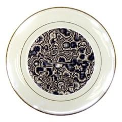 Reflective Illusion 04 Porcelain Plates by MoreColorsinLife