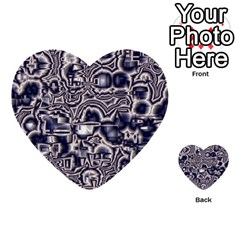 Reflective Illusion 04 Multi Purpose Cards (heart)  by MoreColorsinLife