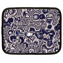 Reflective Illusion 04 Netbook Case (large) by MoreColorsinLife