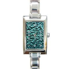 Green Metallic Background, Rectangle Italian Charm Watches by Costasonlineshop