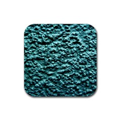 Green Metallic Background, Rubber Coaster (square)  by Costasonlineshop