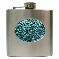 Green Metallic Background, Hip Flask (6 Oz) by Costasonlineshop
