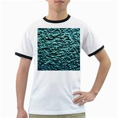 Green Metallic Background, Ringer T Shirts by Costasonlineshop