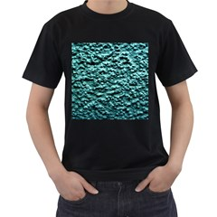 Green Metallic Background, Men s T Shirt (black) (two Sided) by Costasonlineshop