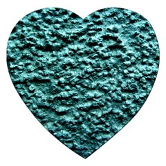 Green Metallic Background, Jigsaw Puzzle (heart) by Costasonlineshop