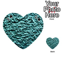 Green Metallic Background, Playing Cards 54 (Heart)  by Costasonlineshop