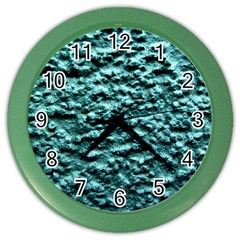 Green Metallic Background, Color Wall Clocks by Costasonlineshop