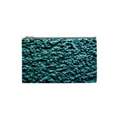 Green Metallic Background, Cosmetic Bag (small)  by Costasonlineshop