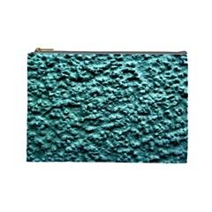Green Metallic Background, Cosmetic Bag (large)  by Costasonlineshop