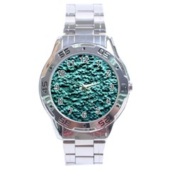 Green Metallic Background, Stainless Steel Men s Watch by Costasonlineshop