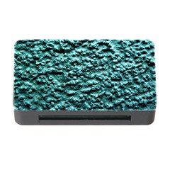Green Metallic Background, Memory Card Reader With Cf by Costasonlineshop
