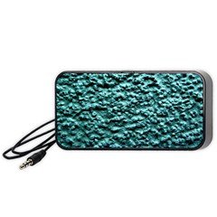 Green Metallic Background, Portable Speaker (black)  by Costasonlineshop
