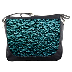 Green Metallic Background, Messenger Bags