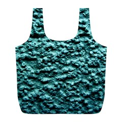 Green Metallic Background, Full Print Recycle Bags (l)