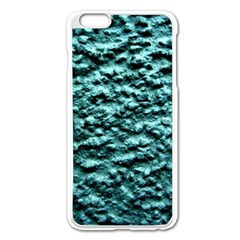 Green Metallic Background, Apple Iphone 6 Plus/6s Plus Enamel White Case by Costasonlineshop