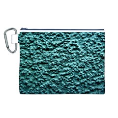Green Metallic Background, Canvas Cosmetic Bag (l) by Costasonlineshop