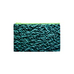 Green Metallic Background, Cosmetic Bag (xs) by Costasonlineshop