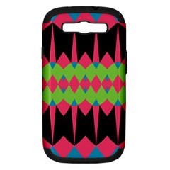 Rhombus and other shapes patternSamsung Galaxy S III Hardshell Case (PC+Silicone) by LalyLauraFLM