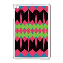 Rhombus And Other Shapes Patternapple Ipad Mini Case (white) by LalyLauraFLM
