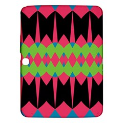 Rhombus and other shapes pattern			Samsung Galaxy Tab 3 (10.1 ) P5200 Hardshell Case by LalyLauraFLM