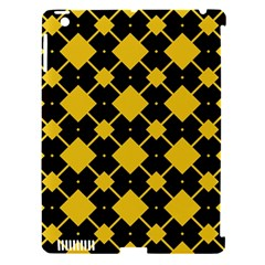 Connected rhombus patternApple iPad 3/4 Hardshell Case (Compatible with Smart Cover) by LalyLauraFLM