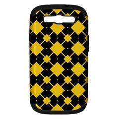 Connected rhombus pattern			Samsung Galaxy S III Hardshell Case (PC+Silicone) by LalyLauraFLM