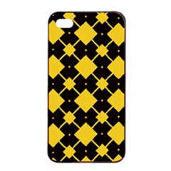 Connected Rhombus Pattern			apple Iphone 4/4s Seamless Case (black) by LalyLauraFLM