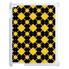 Connected Rhombus Pattern			apple Ipad 2 Case (white) by LalyLauraFLM