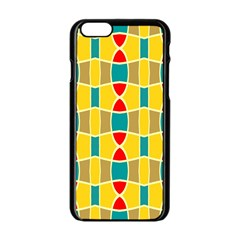 Colorful Chains Pattern			apple Iphone 6/6s Black Enamel Case by LalyLauraFLM