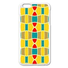 Colorful Chains Patternapple Iphone 6 Plus/6s Plus Enamel White Case by LalyLauraFLM