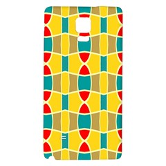 Colorful Chains Pattern			samsung Note 4 Hardshell Back Case by LalyLauraFLM