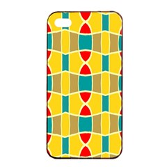 Colorful Chains Pattern			apple Iphone 4/4s Seamless Case (black) by LalyLauraFLM