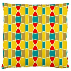 Colorful Chains Pattern large Flano Cushion Case (two Sides) by LalyLauraFLM