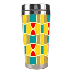 Colorful Chains Pattern Stainless Steel Travel Tumbler by LalyLauraFLM