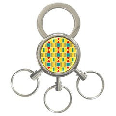 Colorful Chains Pattern3 Ring Key Chain by LalyLauraFLM