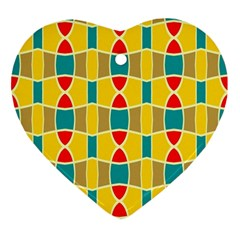 Colorful Chains Patternornament (heart) by LalyLauraFLM