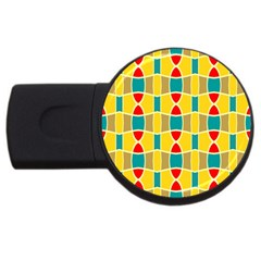 Colorful Chains Patternusb Flash Drive Round (2 Gb) by LalyLauraFLM