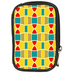 Colorful Chains Patterncompact Camera Leather Case by LalyLauraFLM