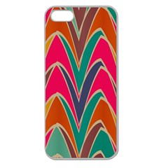 Bended Shapes In Retro Colorsapple Seamless Iphone 5 Case (clear) by LalyLauraFLM