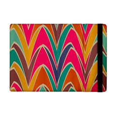 Bended Shapes In Retro Colors			apple Ipad Mini Flip Case by LalyLauraFLM