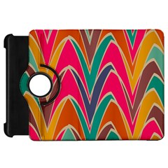 Bended Shapes In Retro Colors			kindle Fire Hd Flip 360 Case by LalyLauraFLM
