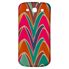 Bended Shapes In Retro Colorssamsung Galaxy S3 S Iii Classic Hardshell Back Case by LalyLauraFLM