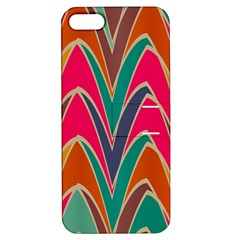 Bended Shapes In Retro Colors			apple Iphone 5 Hardshell Case With Stand by LalyLauraFLM