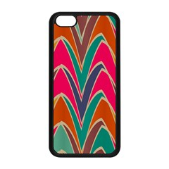 Bended Shapes In Retro Colors			apple Iphone 5c Seamless Case (black) by LalyLauraFLM