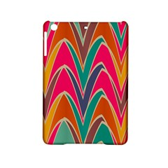 Bended Shapes In Retro Colors			apple Ipad Mini 2 Hardshell Case by LalyLauraFLM