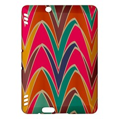 Bended Shapes In Retro Colorskindle Fire Hdx Hardshell Case by LalyLauraFLM