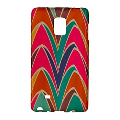 Bended Shapes In Retro Colorssamsung Galaxy Note Edge Hardshell Case by LalyLauraFLM